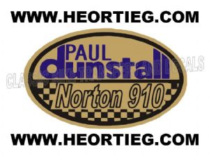 Paul Dunstall Norton 910 Tank and Fairing Transfer Decal DDUN10-6